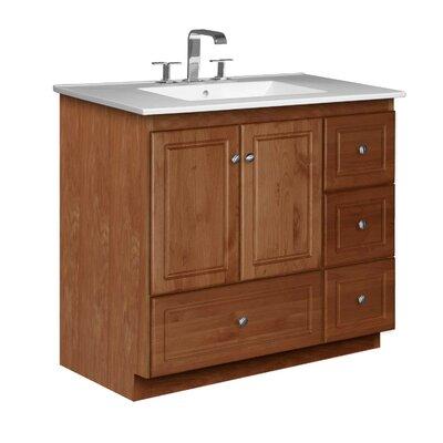 Simplicity 37 Single Bathroom Vanity Set Base Finish: Medium Alder
