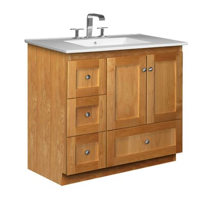 Simplicity 37 Single Bathroom Vanity Set Base Finish: Natural Alder