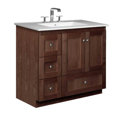Simplicity 37 Single Bathroom Vanity Set Base Finish: Dark Alder