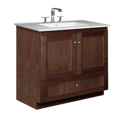 Simplicity 37 Single Bathroom Vanity Set Base Finish: Dark Alder