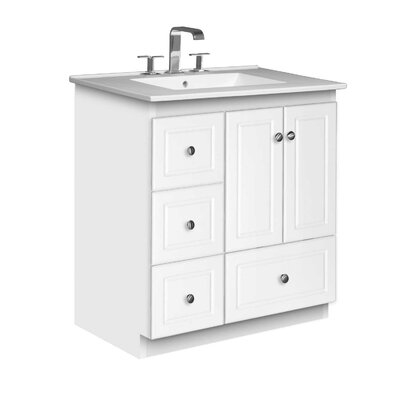 Simplicity 31 Single Bathroom Vanity Set Base Finish: Satin White