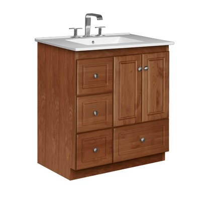 Simplicity 31 Single Bathroom Vanity Set Base Finish: Medium Alder