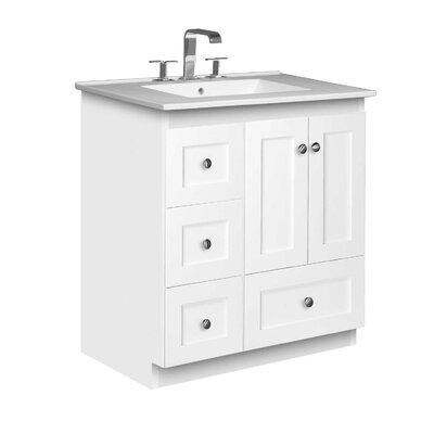 Simplicity 31 Single Bathroom Vanity Set Base Finish: Satin White