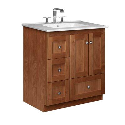 Simplicity 31 Single Bathroom Vanity Set Base Finish: Medium Alder