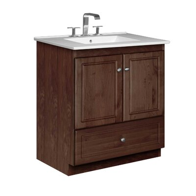 Simplicity 31 Single Bathroom Vanity Set Base Finish: Dark Alder
