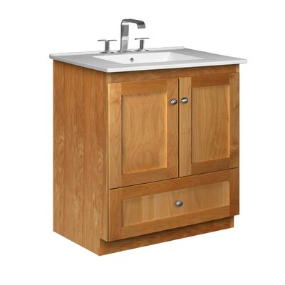 Simplicity 31 Single Bathroom Vanity Set Base Finish: Natural Alder