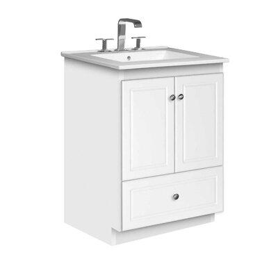 Simplicity 25 Single Bathroom Vanity Set Base Finish: Satin White