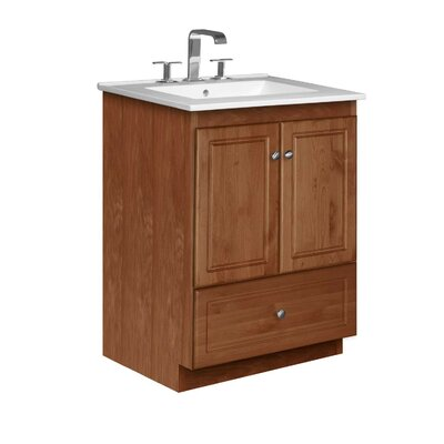 Simplicity 25 Single Bathroom Vanity Set Base Finish: Medium Alder