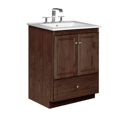 Simplicity 25 Single Bathroom Vanity Set Base Finish: Dark Alder