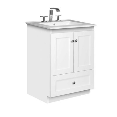 Simplicity 25 Single Bathroom Vanity Set Base Finish: Satin White