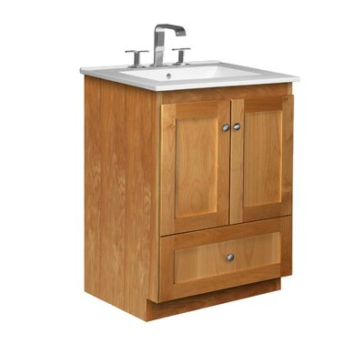 Simplicity 25 Single Bathroom Vanity Set Base Finish: Natural Alder