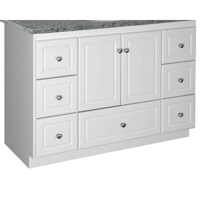 Simplicity 48 Bathroom Vanity Base Base Finish: Satin White, Depth: 18