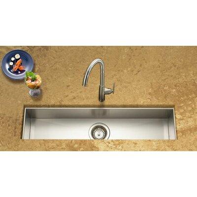 Contempo 32 x 8.5 x 6 Zero Radius Undermount Trough Bar Sink