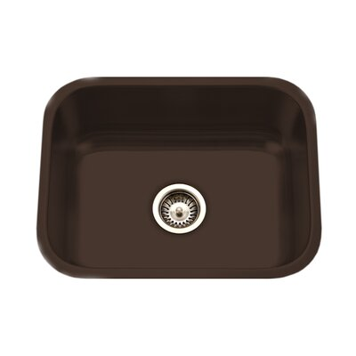 Porcela 22.76 x 17.4 Porcelain Enamel Steel Undermount Single Kitchen Sink Finish: Espresso