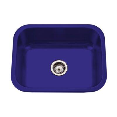 Porcela 22.76 x 17.4 Porcelain Enamel Steel Undermount Single Kitchen Sink Finish: Navy Blue