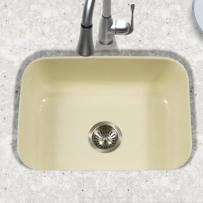 Porcela 22.76 x 17.4 Porcelain Enamel Steel Undermount Single Kitchen Sink Finish: Biscuit