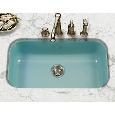 Porcela 30.9 x 17.32  Porcelain Enamel Steel Gourmet Undermount Single Kitchen Sink Finish: Mint