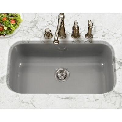Porcela 30.9 x 17.32  Porcelain Enamel Steel Gourmet Undermount Single Kitchen Sink Finish: Slate