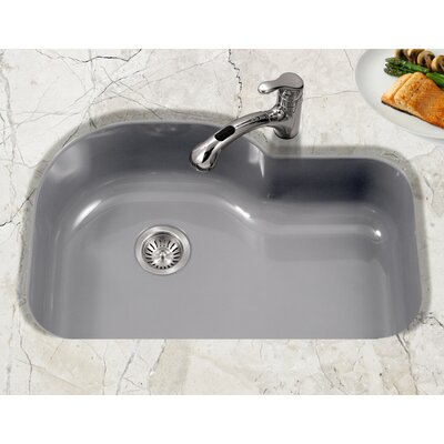 Porcela 31.26 x 20.67 Porcelain Enamel Offset Undermount Kitchen Sink Finish: Slate