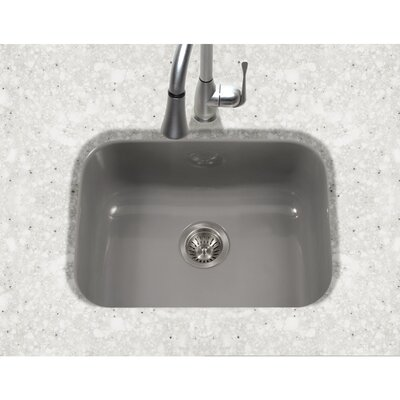 Porcela 22.76 x 17.4 Porcelain Enamel Steel Undermount Single Kitchen Sink Finish: Slate