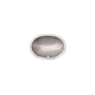 Hammerwerks Flat Lip Ellipse Oval Undermount Bathroom Sink with Overflow Sink Finish: Pewter