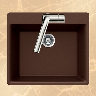 Quartztone 23.62 x 20 Single Bowl Topmount Kitchen Sink Finish: Earth