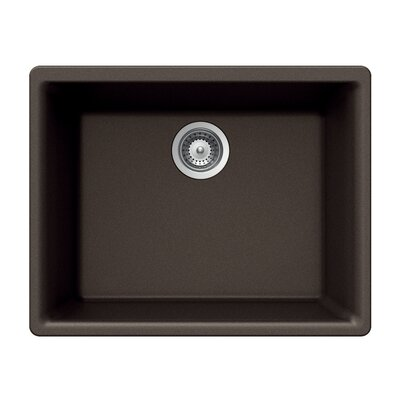 Quartztone 23.62 x 17.75 Single Bowl Undermount Kitchen Sink Finish: Mocha