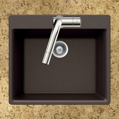 Quartztone 23.62 x 20 Single Bowl Topmount Kitchen Sink Finish: Mocha