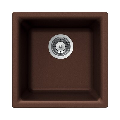 Quartztone 15.75 x 15.75 Prep/Bar Dual Mount Kitchen Sink Finish: Mocha