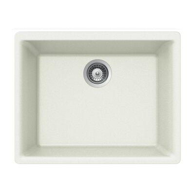Quartztone 23.62 x 17.75 Single Bowl Undermount Kitchen Sink Finish: White