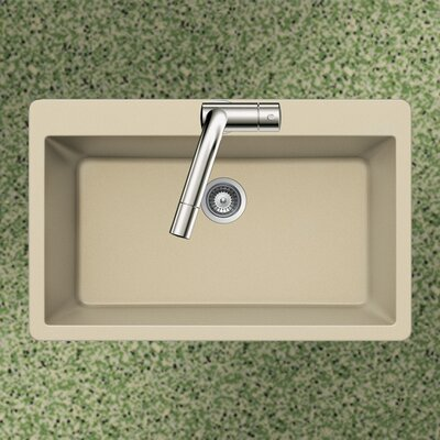 Quartztone 33 x 22 Large Single Bowl Topmount Kitchen Sink Finish: Sand