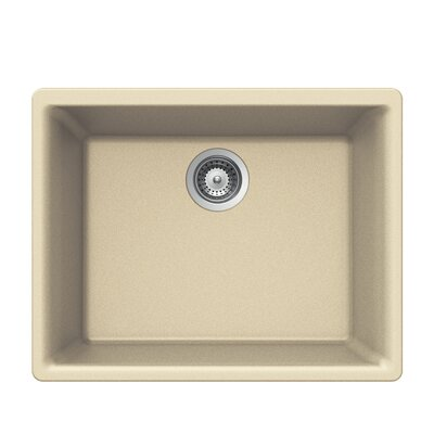 Quartztone 23.62 x 17.75 Single Bowl Undermount Kitchen Sink Finish: Sand