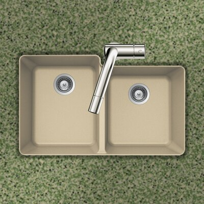 Quartztone 33 x 20.5 60/40 Double Bowl Undermount Kitchen Sink Finish: Sand