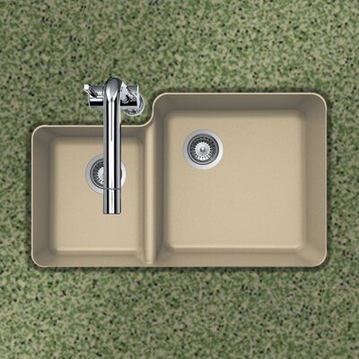 Quartztone 33 x 20.76 70/30 Double Bowl Undermount Kitchen Sink Finish: Sand