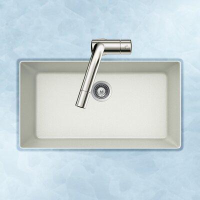 Quartztone 33 x 18.88 Single Bowl Undermount Kitchen Sink Finish: White