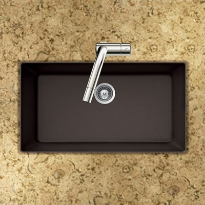 Quartztone 33 x 18.88 Single Bowl Undermount Kitchen Sink Finish: Mocha