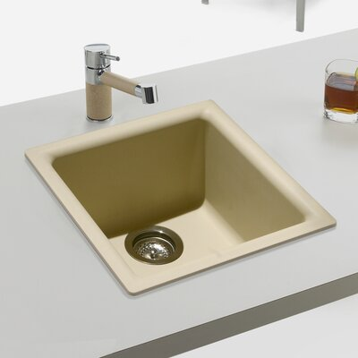 Quartztone 15.75 x 15.75 Prep/Bar Dual Mount Kitchen Sink Finish: Sand