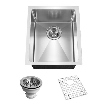 Savoir 12 x 14 Undermount Prep Bowl Kitchen Sink