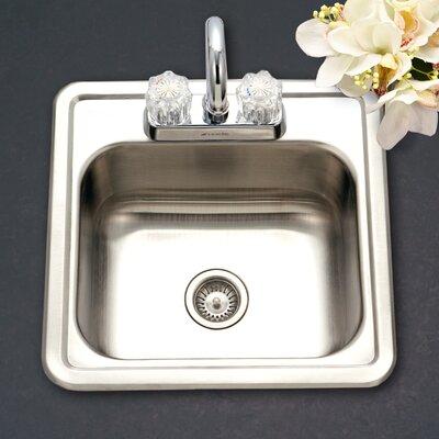 Hospitality 15 x 15 Topmount 24 Gauge Bar Sink
