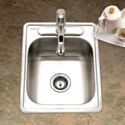 Glowtone ADA Compliant 22 x 17 Topmount Single Bowl 22 Gauge Kitchen Sink
