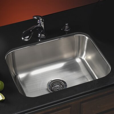 Elite 23.19 x 17.94 Undermount Single Bowl Kitchen Sink