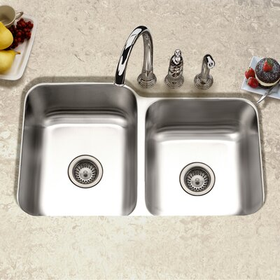 Elite 31.5 x 20.19 Undermount Double Bowl 60/40 Kitchen Sink