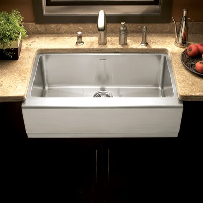 Epicure 32.88 x 20 Farmhouse Single Bowl Kitchen Sink