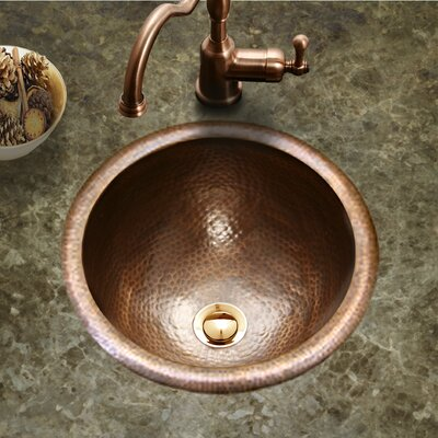 Hammerwerks August Self Rimming Bathroom Sink Sink Finish: Copper