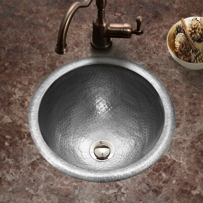 Hammerwerks August Self Rimming Bathroom Sink Sink Finish: Pewter