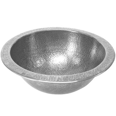 Hammerwerks August Flat Lip Circular Undermount Bathroom Sink with Overflow Sink Finish: Pewter
