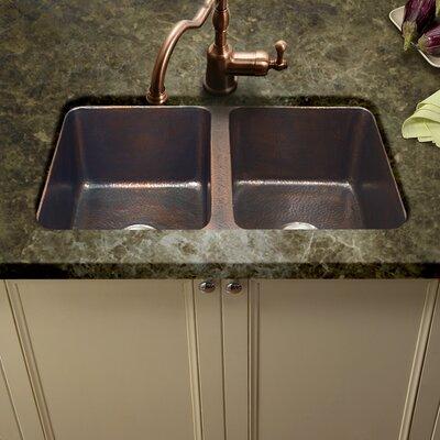 Hammerwerks 34.25 x 21 ChaletChef Double Bowl Kitchen Sink