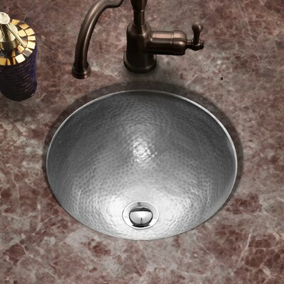 Hammerwerks Classic Flat Lip Circular Undermount Bathroom Sink with Overflow Sink Finish: Pewter