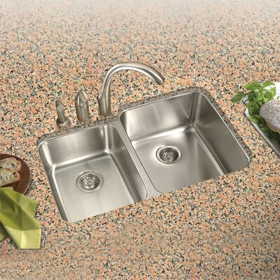 Medallion Classic 31.5 x 17.94 - 20.19 Undermount Double Bowl 60/40 Kitchen Sink with Small Left Bowl