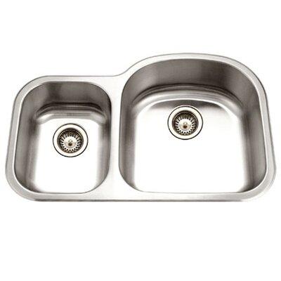 Medallion Designer 32.5 x 20.69 Undermount Double Bowl 70/30 Kitchen Sink